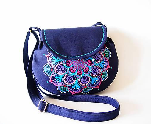 Malá tmavomodrá kabelka s mandalou   DARTASKA - SAShE.sk - Handmade ... 0de8e818c4c