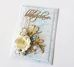 Papiernictvo - pohľadnica svadobná - 7938715_