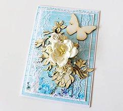 Papiernictvo - pohľadnica svadobná - 7940046_