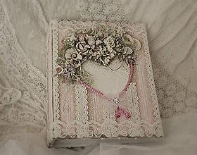 Papiernictvo - Svadobný fotoalbum - shabby chic, menší - 7940048_