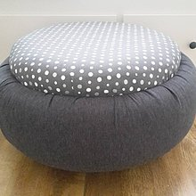 Úžitkový textil - N´JOY sedák - sivá bodka - 7939414_