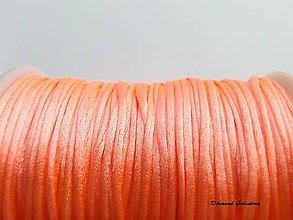 Galantéria - Shamballa šnúrka saténová - Baby pink - 7942499_