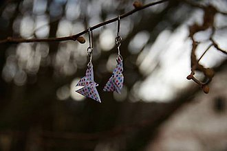 Náušnice - Motýlci puntíkatí - 7941980_