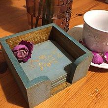 Pomôcky - podložky pod poháre tyrkys vintage - 7942402_