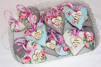 Darčeky pre svadobčanov - svadobné levanduľové srdiečka - 7941128_