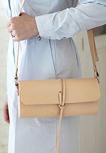 Kabelky - Listová kabelka na rameno MINI WIDE NATURAL - 7939878_