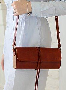 Kabelky - Listová kabelka na rameno MINI WIDE (BROWN) - 7939950_