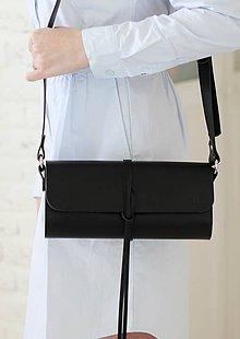 Kabelky - Listová kabelka na rameno MINI WIDE (BLACK) - 7940024_