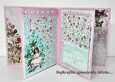 Papiernictvo - Leporelo minialbum pre dievčatko - 7940528_