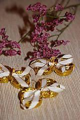 Drobnosti - Zlaté prstýnky - dekorace - 7938608_