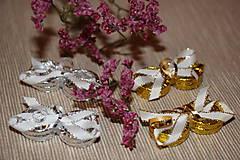 Drobnosti - Stříbrné prstýnky- dekorace - 7938614_