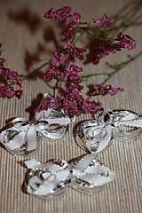 Drobnosti - Stříbrné prstýnky- dekorace - 7938615_