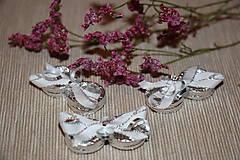 Drobnosti - Stříbrné prstýnky- dekorace - 7938616_