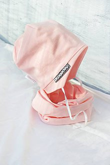 Detské súpravy - Jarná čiapka s menom na uväzovanie + nákrčník - 7942529_