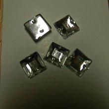 Iný materiál - Našívacie kamienky kryštál štvorcové 9mm - 7941534_