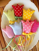 - Zvesela II., ... textilné tulipány - 7940385_
