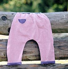 Detské oblečenie - Lněné kapsičkové - 7941057_