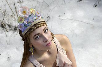 Ozdoby do vlasov - Korunka: Zimná víla v pasteli - 7942628_