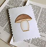 Papiernictvo - Minipohľadnica - hríbik - 7942380_