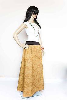 Sukne - _Nela... Zlatavé impresie... MaXi SuKŇa - 7944935_