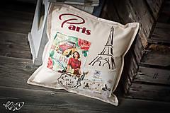 """Úžitkový textil - Vankúšik """"Paris"""" - 7945242_"""