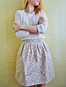 Sukne - Ľahučká letná suknička s bodkami - 7945046_
