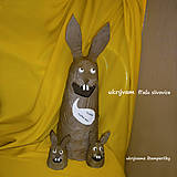 Dekorácie - Vesellý zajac - 7946037_