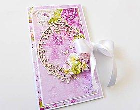 Papiernictvo - darčekový obal / pohľadnica svadobná - 7943002_