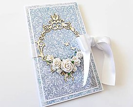Papiernictvo - darčekový obal / pohľadnica svadobná - 7943110_