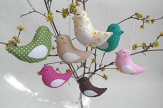 Dekorácie - Veselé vtáčiky - 7943600_