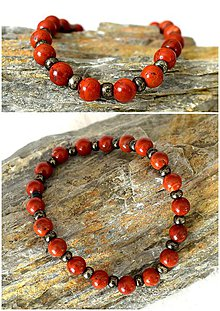 Šperky - Red Jaspis - 7945024_