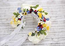 Ozdoby do vlasov - Ľudová kvetinová parta - 7945745_