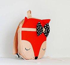 Detské tašky - RUKSAK baby LÍŠKA oranžový 2,5r. - 7942740_