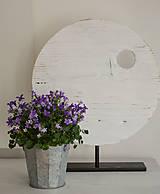 - biely kruh s okrúhlym otovorom, M - 7943031_
