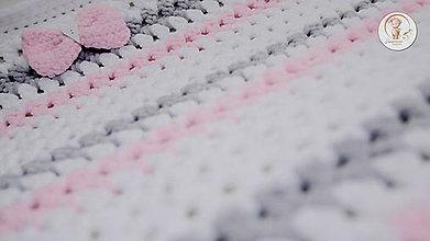 Textil - Háčkovaná deka Ružový sen - 7944336_