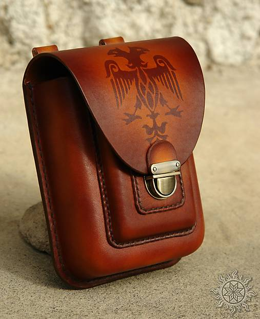 bef5e11a2 Kožená kapsa na opasok dvojitá / Alatyr - SAShE.sk - Handmade Tašky