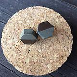 Náušnice - Betónky Hex nuts brown Art 01 - 7945464_