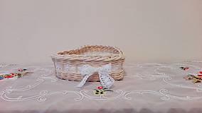 Košíky - Košík s čipkou... - 7944605_