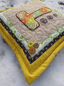 Úžitkový textil - Vankúš s písmenom. - 7944330_
