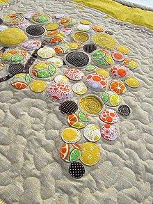 Úžitkový textil - Original prehoz s kvetmi No.2 - 7944401_