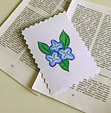 Papiernictvo - Minipohľadnica - nezábudky - 7944362_