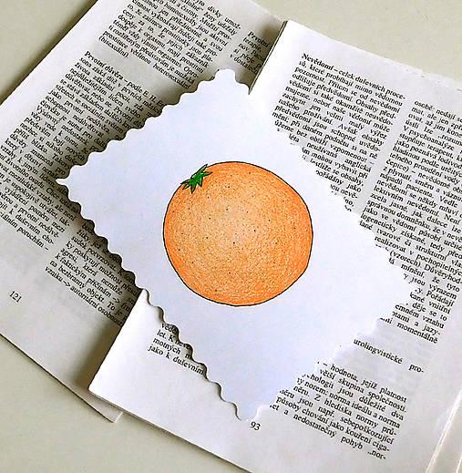 Minipohľadnica - pomaranč