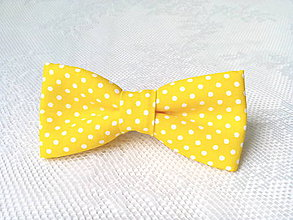 Ozdoby do vlasov - Pin Up hair clip (yellow/white dots) - 7948885_