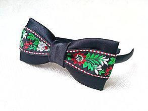 Ozdoby do vlasov - Sweet folklore headband (black) - 7948910_