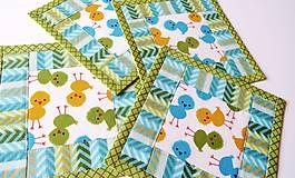 Úžitkový textil - Green Chicken ... podložky 4 ks - 7948800_