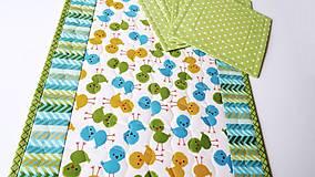 Úžitkový textil - Green Chicken ... podložky 4 ks - 7948801_