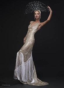 Šaty - Sparkling Gold STAR/skladom/ - 7949506_