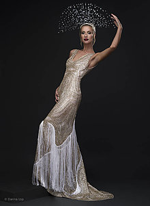 Šaty - Sparkling Gold STAR - 7949506_