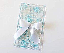 Papiernictvo - darčekový obal / pohľadnica svadobná - 7946277_