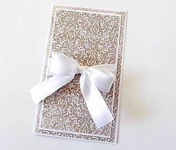 Papiernictvo - darčekový obal / pohľadnica svadobná - 7946279_